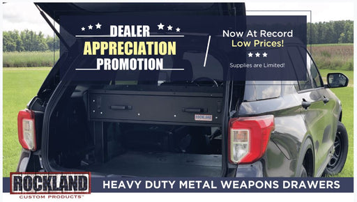 Rockland Heavy Duty Metal Weapons Drawer with Lock + FREE RISERS WD-S-P
