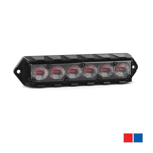 Feniex Fusion Dual Color Surface Mount Light, 40° Red/Blue- FSM-40-RB