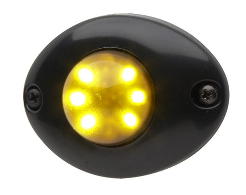 Whelen Vertex™ LED Lighthead Flange Mount Black, VTXFB-AE