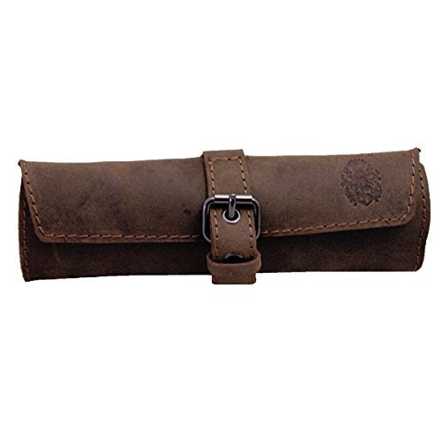 KROWNTOES Pencil Case Leather Brown