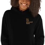 UNEMPLOYED CEO Embroidered UNISEX Hooded Sweatshirt