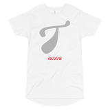 T LETTER Long Body Urban Tee