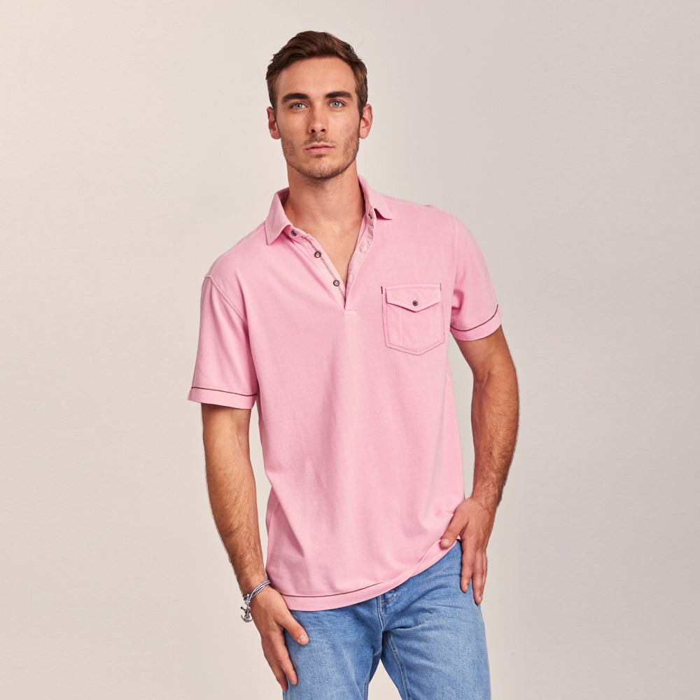 SHORT SLEEVE POLO WITH A NEW TWIST
