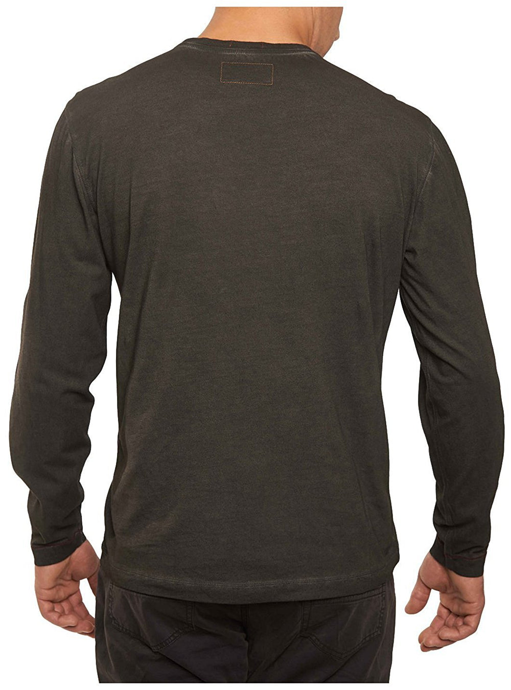 TADD by Thaddeus Men's BING Long Sleeve Spray-Dyed Jersey Crew Neck