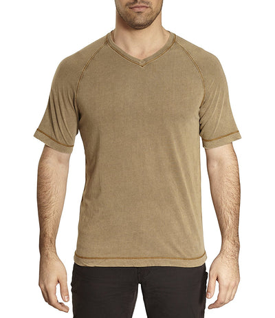 TADD by Thaddeus DEX V-Neck Raglan Short Sleeve Solid Color T-Shirt