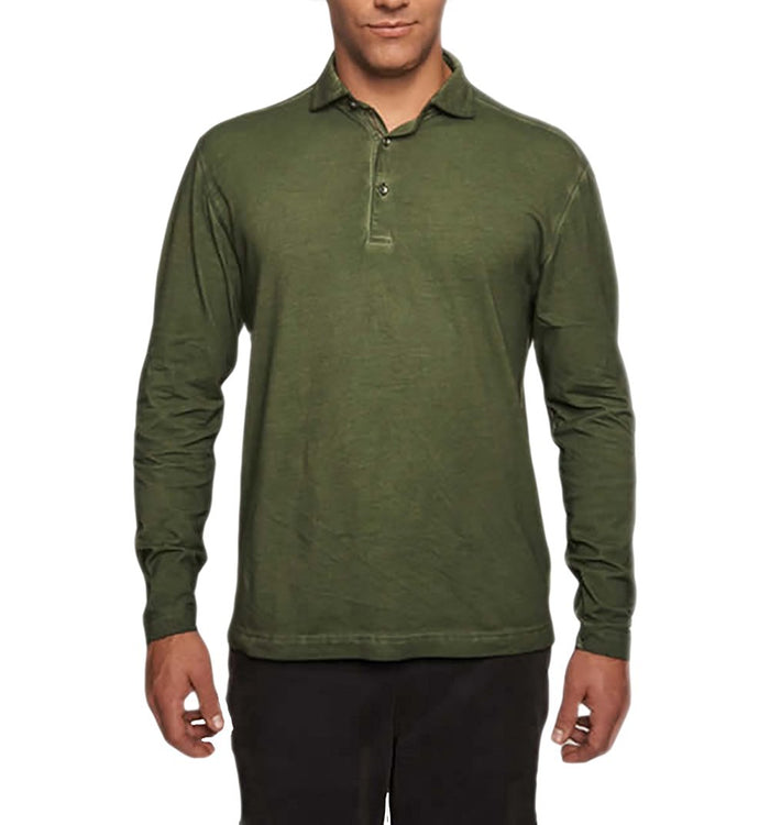 TADD by Thaddeus Men's Freddie Long Sleeve Jersey Polo Shirt