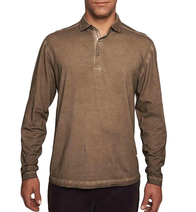 TADD by Thaddeus Men's Freddy Long Sleeve Jersey Polo Shirt