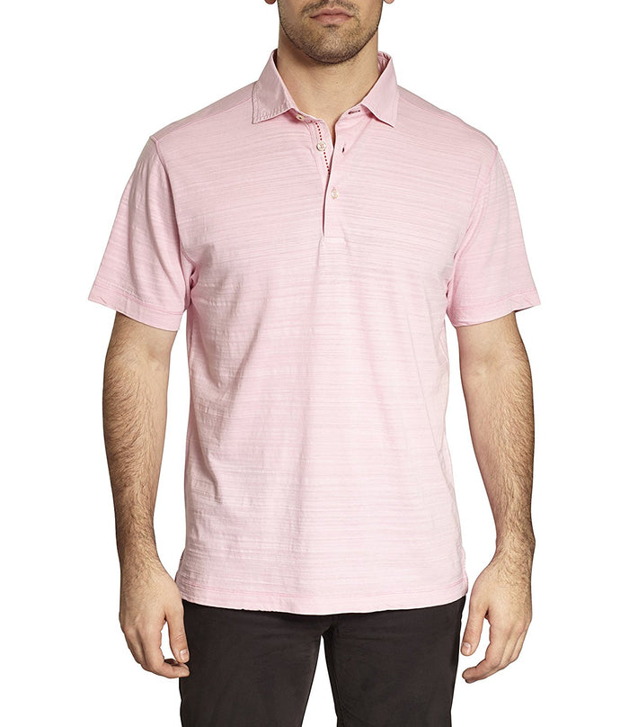TADD by Thaddeus HAL Short Sleeve Slub Cotton Polo T-Shirt