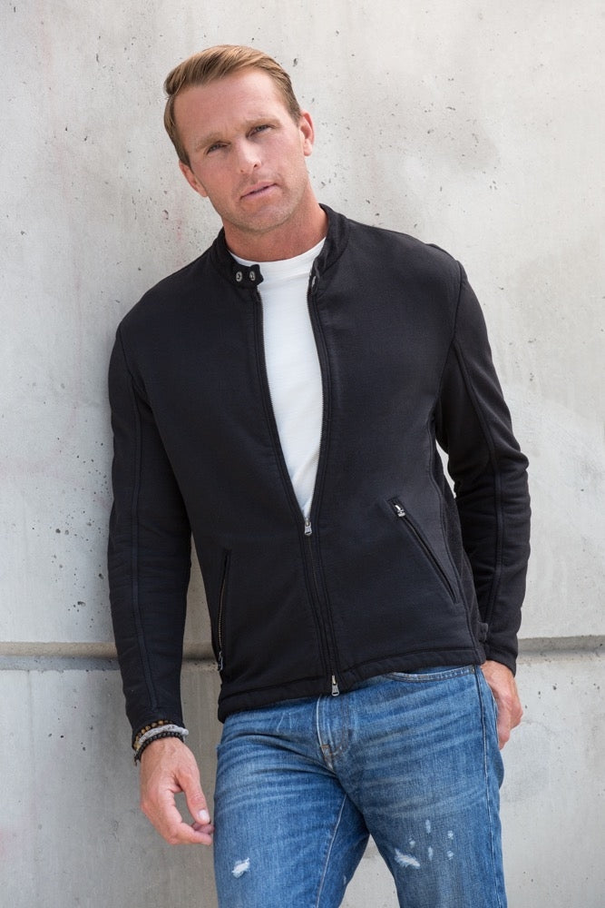 Thaddeus RHODES Long Sleeve Knit Motocross Jacket