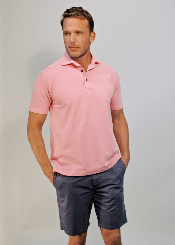 Thaddeus PAUL Stretch Cotton Pique Polo