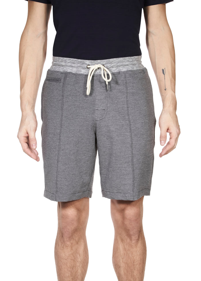 Thaddeus WRIGHT Heather Stretch French Terry Drawstring Short