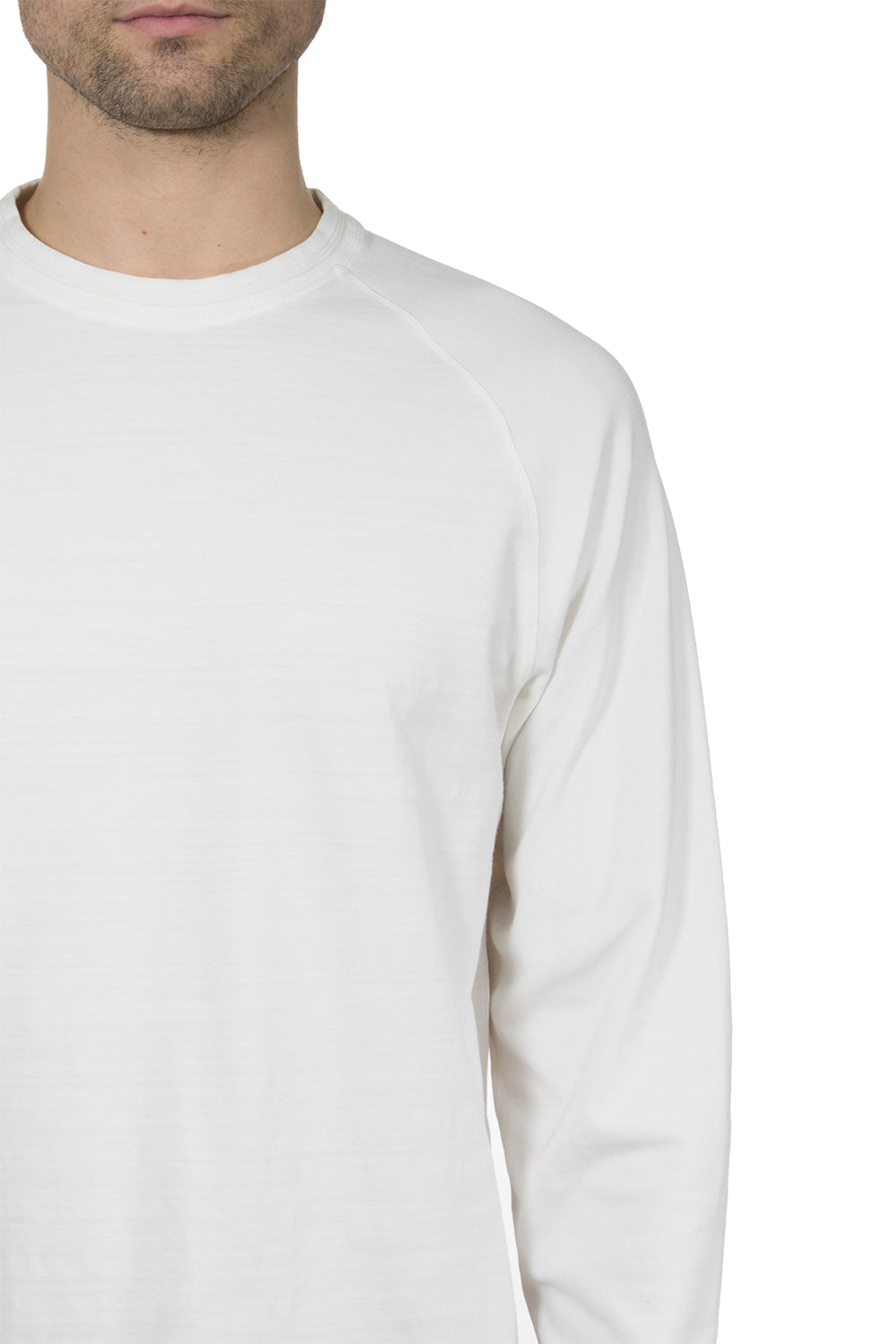 Thaddeus CONRAD Long Sleeve Cotton Slub Crew Neck