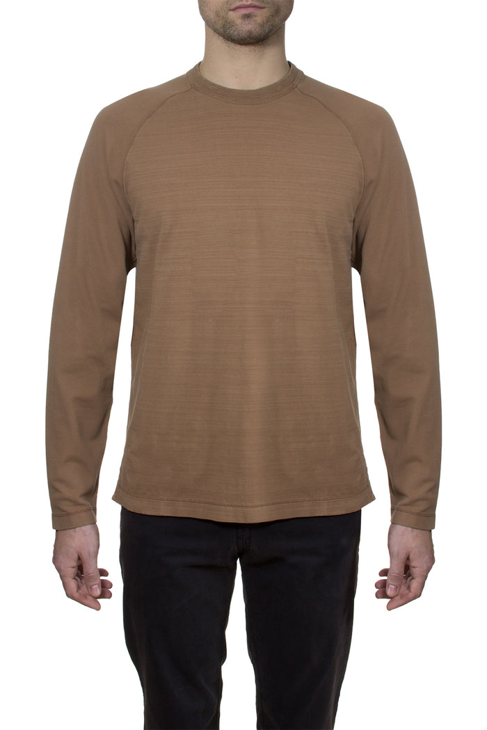 Thaddeus CONRAD Long Sleeve Solid Crew Neck