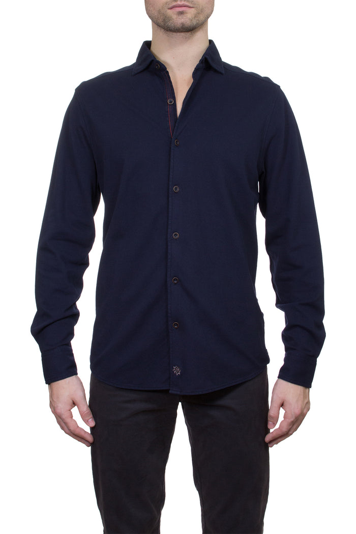 Thaddeus SHIVELY Long Sleeve Pique Button-Up