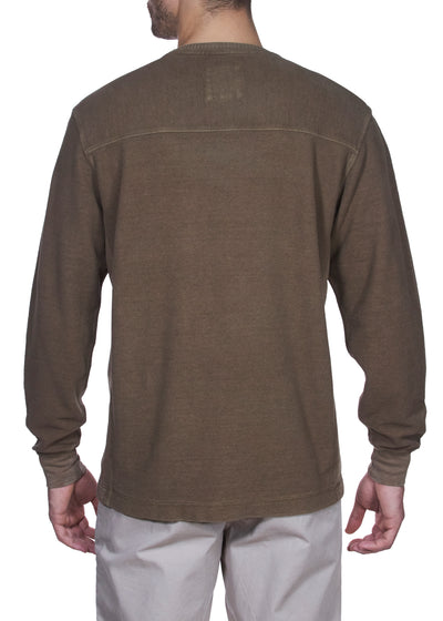 Thaddeus MARCO Long Sleeve Cotton Nailhead Chenille Crew Neck