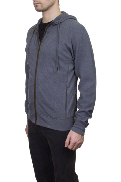 Thaddeus HUDSTON Stretch Cotton Heather Pique Long Sleeve Hoodie