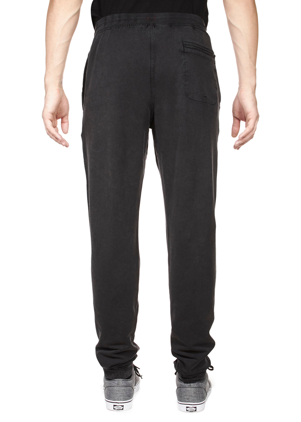 Thaddeus PAYTON Knitted Stretch French Terry Pull-on Drawstring Pants