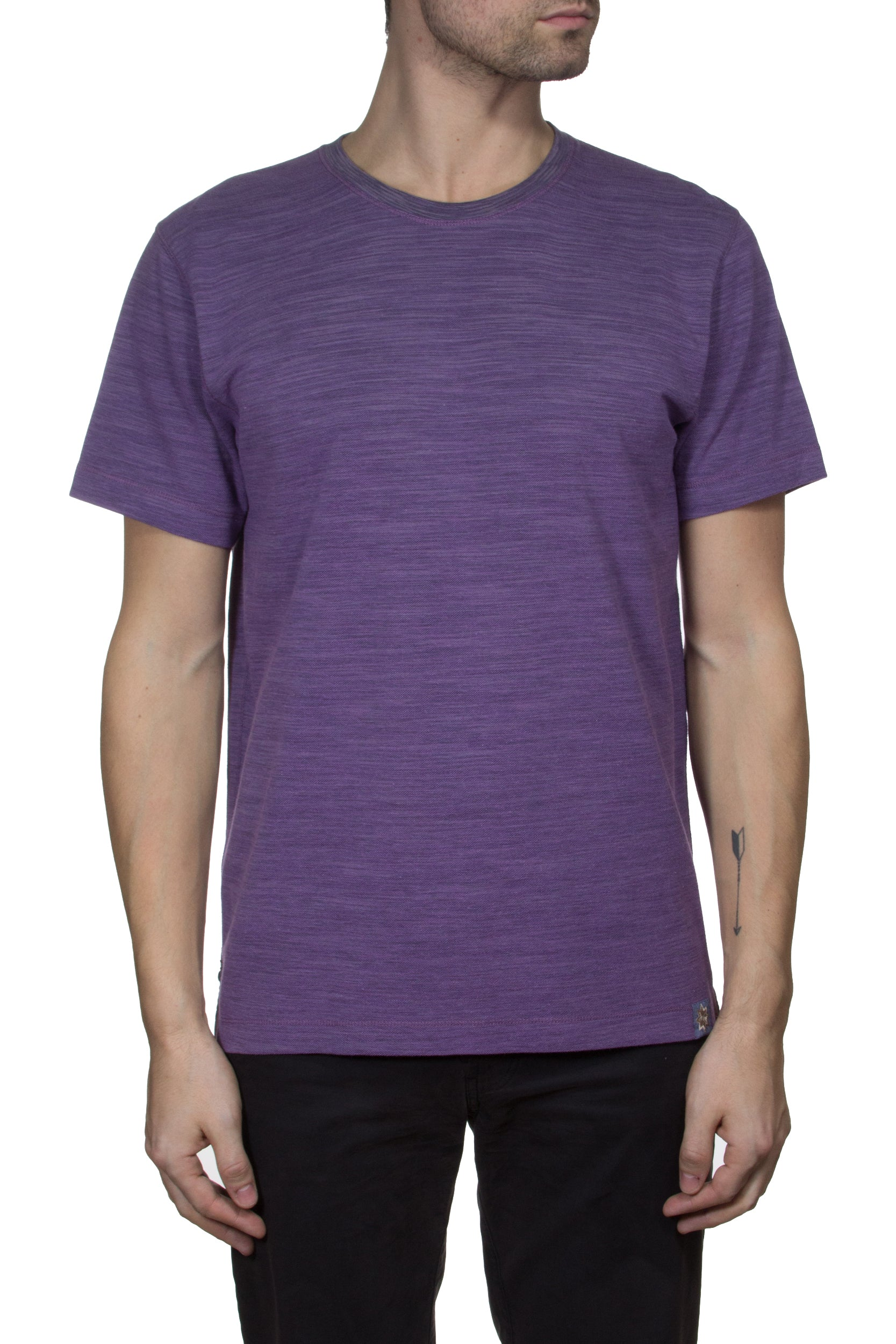 Thaddeus PAXTON Space Dyed Cotton Pique Crew Neck