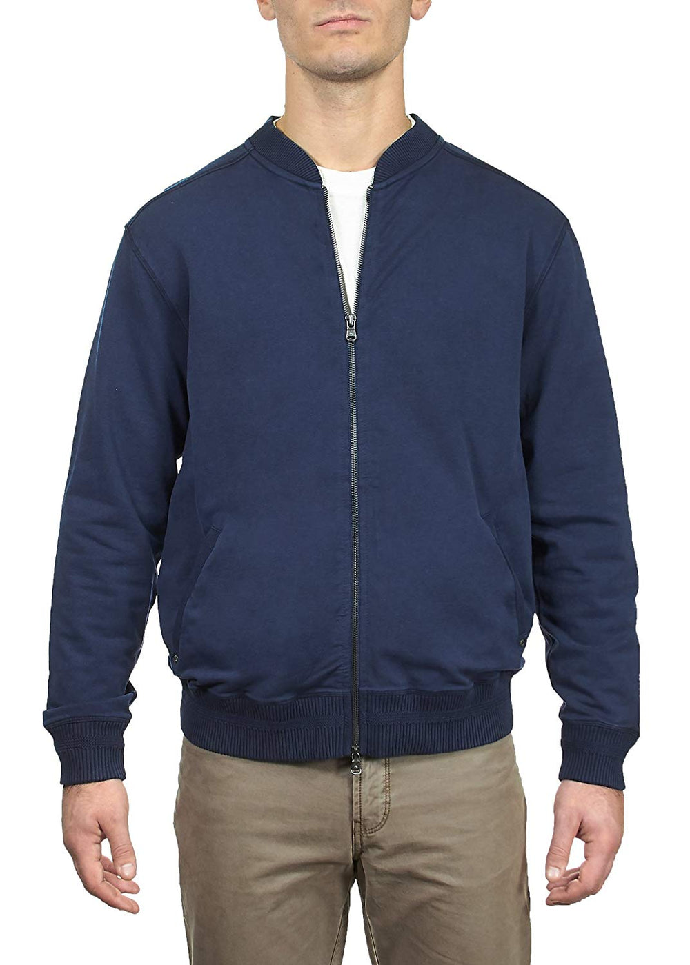 Thaddeus BAILEY Mens L/S French Terry Baseball Zip Front Jacket