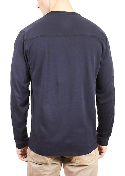 Thaddeus KIRBY Mens LS 100% Cotton Interlock Crew Neck