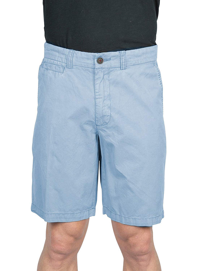 Thaddeus WALTON Mens Twill Cotton Flat Front Walking Shorts