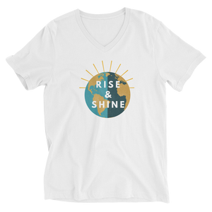 Unisex V-Neck Rise & Shine T-Shirt