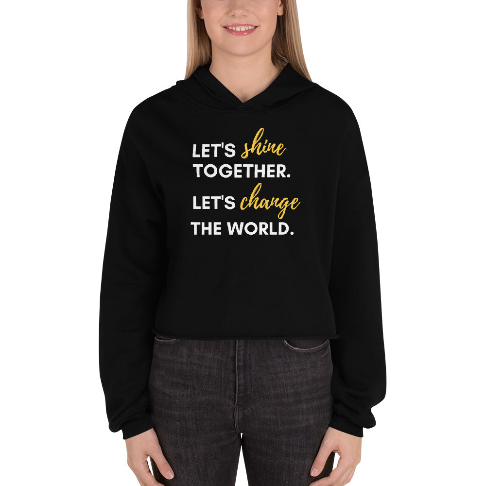 Shine Together Cropped Hoodie