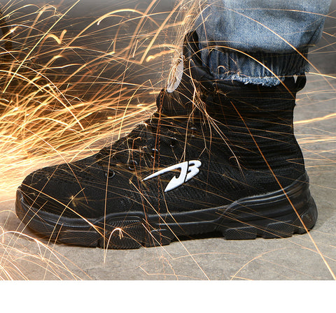 Left sideview of Commando shoe with sparks flying 480 x 480