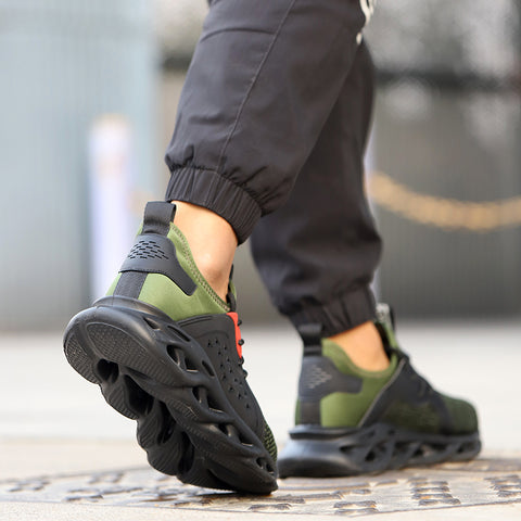 Person walking in green Scout shoes 480 x 480