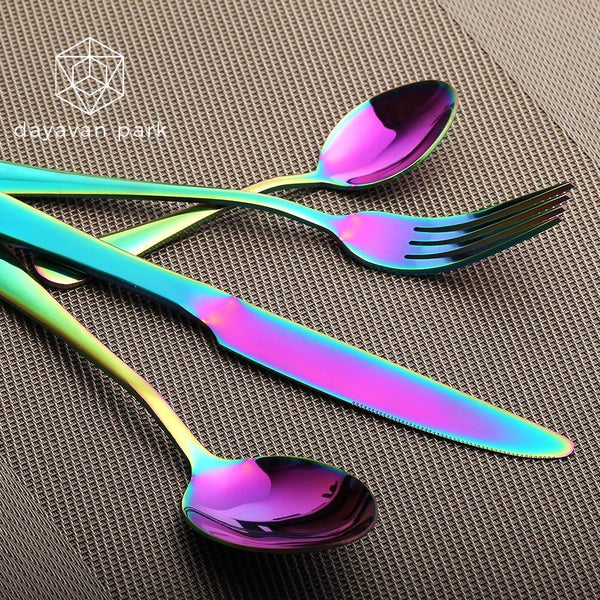 Iridescent Cutlery Set Cooking Tool