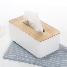 Oak Wood Tissue Box Cover