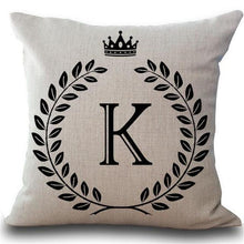 Letter & Crown Fancy Cushion Cover