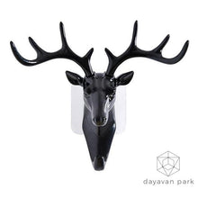 Deer Head Hook Black Accessories