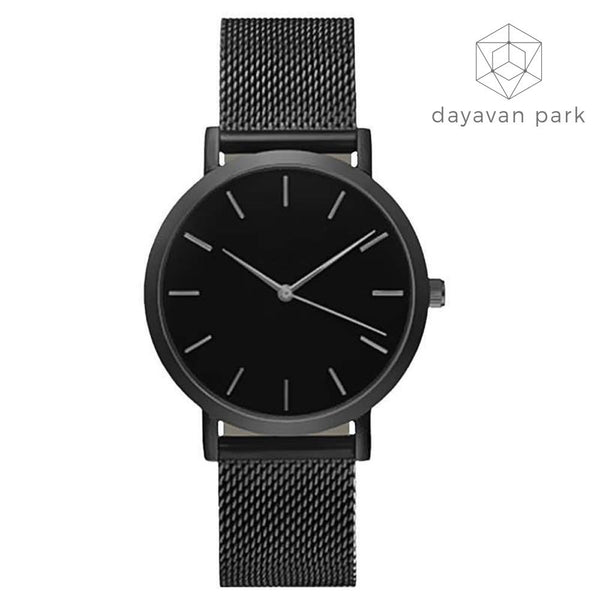 Stainless Steel Mesh Watches Black Watche