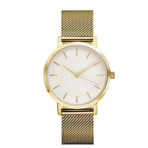 Stainless Steel Mesh Watches Gold Watche