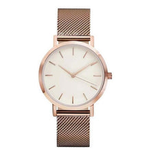 Stainless Steel Mesh Watches Rose Gold Watche