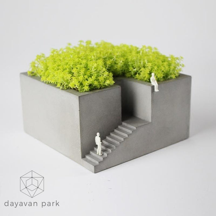 Concrete Herbs Pot Planter