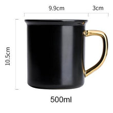 Black and Gold Porcelain Coffee Mug