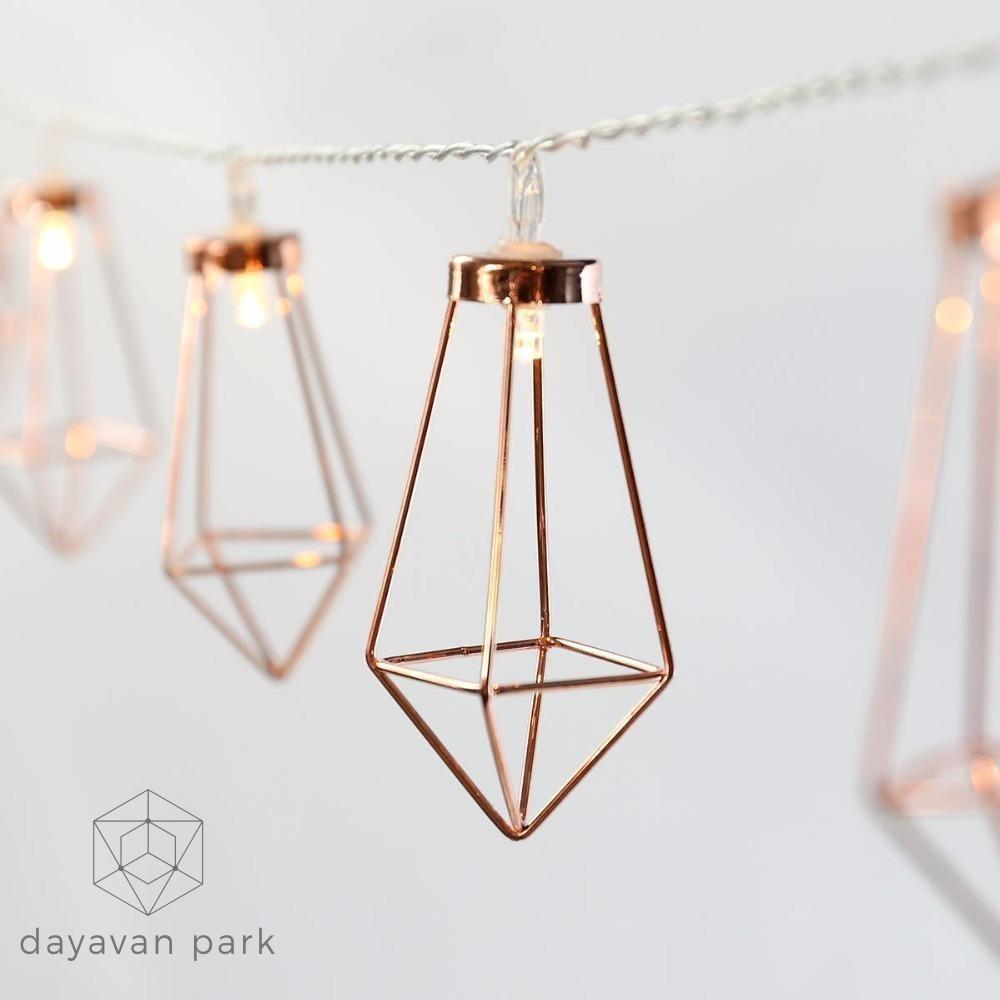 Led Geometric Lights String Led