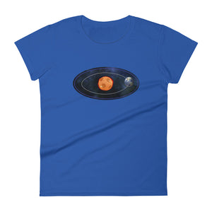 WORLD REVOLVES AROUND SOCCER WOMEN'S SHORT-SLEEVE TEE