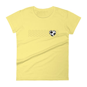 SOCCER HEART WOMEN'S SHORT-SLEEVE TEE