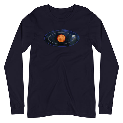 WORLD REVOLVES AROUND SOCCER LONG-SLEEVE TEE
