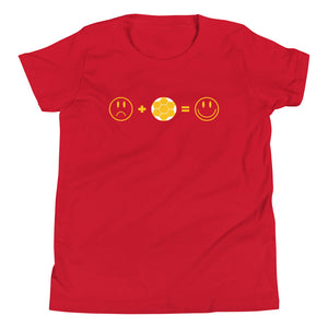 SAD+SOCCER=HAPPY YOUTH SHORT-SLEEVE TEE