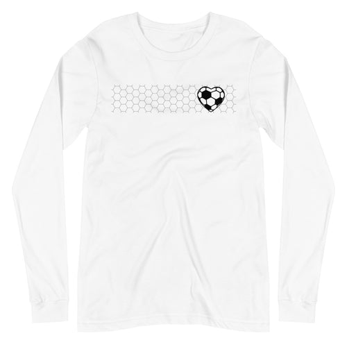 SOCCER HEART LONG-SLEEVE TEE