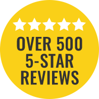Over 500 5 Star Reviews