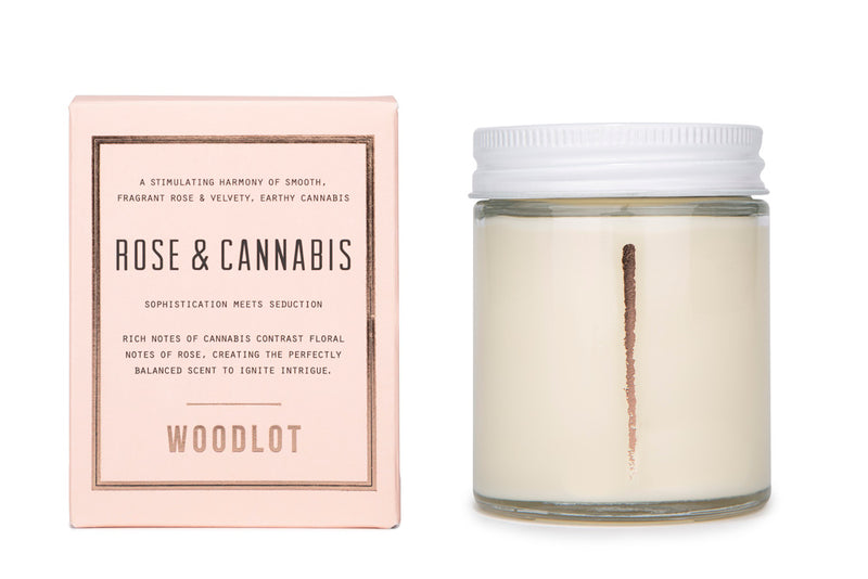 Rose & Cannabis — 8oz Candle - woodlot-usa