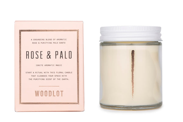Rose & Palo Santo — 8oz Candle - woodlot-usa