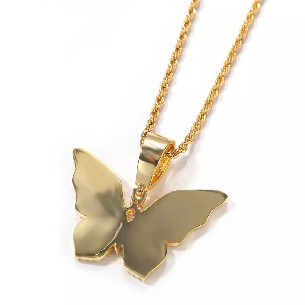 Bella Butterfly Diamond Pendant