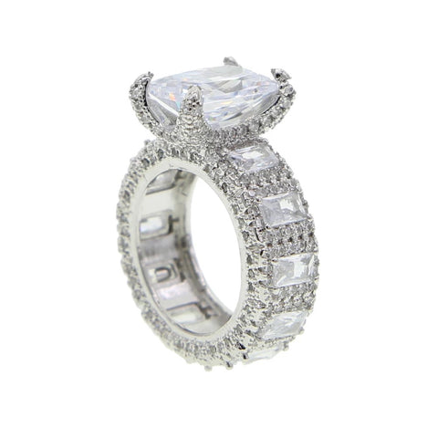 Double Row Diamond Band Ring
