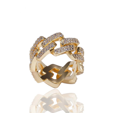 Gold Baguette Band Ring
